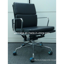 Top Quality Upholstered Eames Chair Medium Back Staff Chair (FOH-MF21-B)
