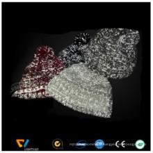 fil réfléchissant d'hivisibilité fluorescent pour le tricotage de fil