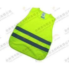 chaleco de seguridad de verde de 5cm de ancho cinta alta visibilidad baja elástico hilo camino reflexivo