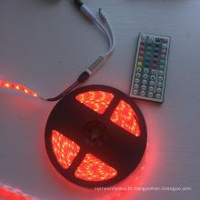 Luz de tira do preço de fábrica 12V RGB com o mini controlador do RGB do IR de 44 chaves