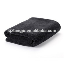 car cleaning black microfiber towel Car cleaning black microfiber towel