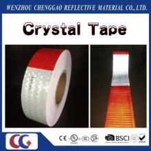 Venta caliente DOT-C2 miel peine tipo PVC cristal enrejado seguridad rojo y blanco camión reflexivo cintas