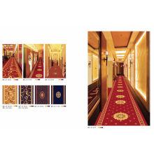 Red Axminster Machine Made Carpet For Hotel Corridor , Cut Pile Carpet