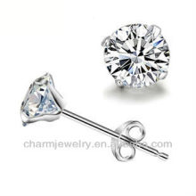 Fashion Round Solitaire Stainless Steel stud earrings SE-004