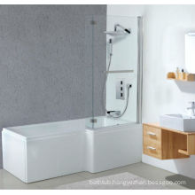 Square Acrylic Shower Bathtub with Bath Screen