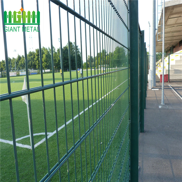 double horizontal wire hot dip galvanized surface fence