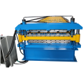 Building material double layer roof sheet making machine