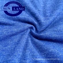 China factory 32S CVC 60/40 jersey melange knit fabric for pajamas