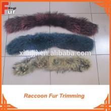 Para la ropa de cuero / abrigo de invierno recorte de piel de mapache