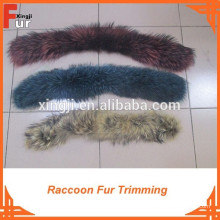 Для кожаной одежды зимнее пальто енота меховой отделкой