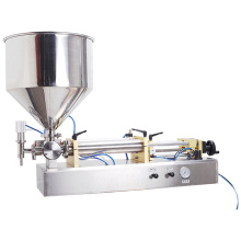 Quantitative Semi-automatic Liquid Food Horizontal Ball Valve Hopper Filling Machine for Paste Sauce Honey Water