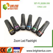 Factory Hot Sale 3 * AAA batterie utilisée Meilleur matériau en aluminium 3watt XPE Cree led High Power Zoom Lampe torche avec joint torique