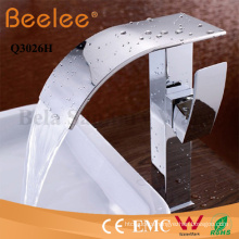 Basin Faucet High Arc Long Spout Bathroom Waterfall Vessel Tap Mixer Faucet