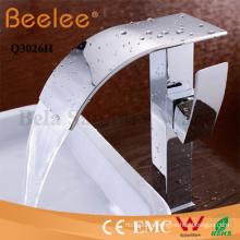 Basin Faucet High Arc Long Spout Bathroom Waterfall Vessel Tap Mixer Faucet