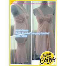 Chiffon One Shoulder Short Length Ruffles Bridal Gown Cut Mermaid Evening Dresses BYE-14068