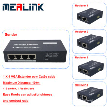 100m 1 to 4 VGA Extender