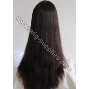 100% Cabelo Remy indiano peruca cheia do laço de seda reta 24 polegadas