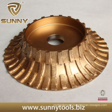 250mm Electroplated Diamond Grinding Wheel for Profiling Stones
