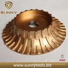 Алмазный шлифовальный круг диаметром 250 мм для профилирования камней