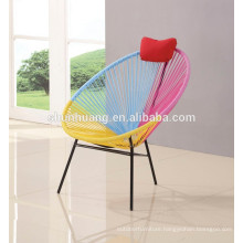 Cheap outdoor furniture rattan chair colorful egg chair with metal stand