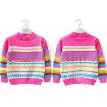 Children christmas pullover sweater for girls jacquard knit
