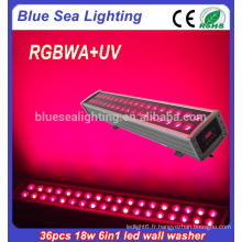 36x18w rgbwa uv 6in1 led flood lighting lumens haute lumière lampe murale