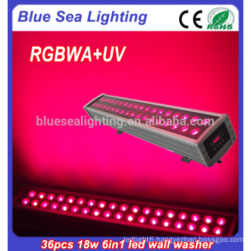 36x18w rgbwa uv 6in1 led flood lighting high lumens wall washer light