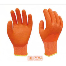 13G Polyester Latex Wave Crinkle Glove