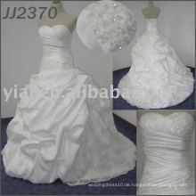 JJ2370 freies Verschiffen trägerloses Taft-Brautkleid