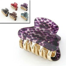 New Design Snake Pattern Hair Claws Resin Hair Clamps With Mixed Colors HC01
