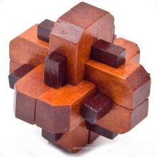 Autour de puzzle en bois tranchant de diamant, style de luxe