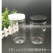 Tarte à cosmétiques en PET, pot pour animaux de compagnie, pot de masque jar massif en plastique avec bouchon à vis