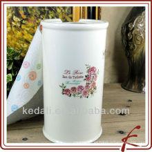 Caja de papel higiénico para papel higiénico de cerámica