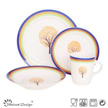 16PCS Cena de cerámica pintada a mano al por mayor