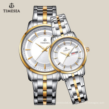 Relojes de pulsera de cuarzo de moda relojes amantes a prueba de agua 70025