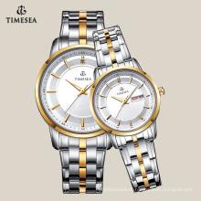 Moda relógios de quartzo impermeável amantes casal assistir 70025