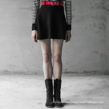 Gothic skirt summer styles woolen half skirt belt high waist high quality fashion design skirt OPQ-409 girls clothing PUNK RAVE