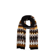 Women's Knitted Jacquard Argyle Winter Scarf