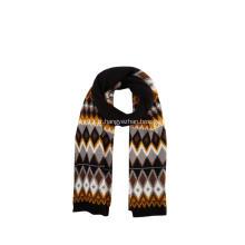 Écharpes d'hiver tricotées jacquard Argyle pour femmes