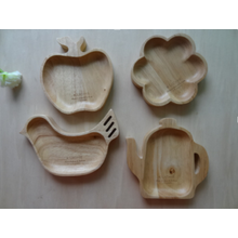 Various Shape Natural Wood Serving Tray Plate