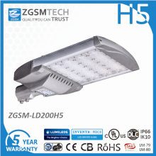 Waterproof 200W Street Lighting LED Luminaires with Ce RoHS