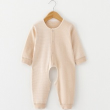 Organic Cotton Baby Striped Spielanzug