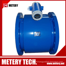 Battery operated rubber lining electromagnetic flow meter