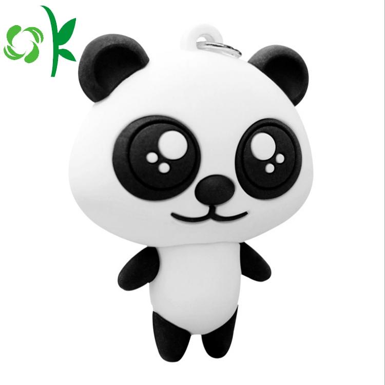Panda Silicone Keychain