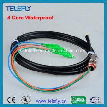 Cable impermeable, colas al aire libre