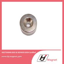 Сильный N52 цилиндр неодимовый магнит с отверстием с высокой мощности