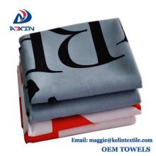 China Factory Custom 30x110 Print Logo Sude Microfiber Sport Towel