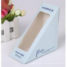 Bolo de papel / sanduíche caixa de embalagem com janela