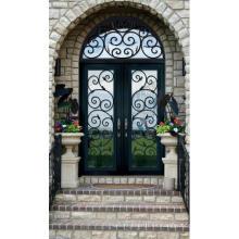 Puertas de hierro forjado clásico americano