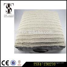 Einfaches Stricken weißes, normales Baumwoll-Deckel Wurfkissen halten Kissen zurück Bloster